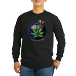 Hemp Planet Long Sleeve Dark T-Shirt