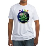 Hemp Planet Fitted T-Shirt