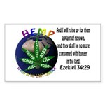Hemp Planet Rectangle Sticker