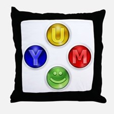 Yum Xbox Controller buttons Throw Pillow