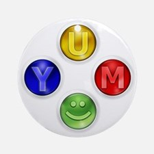 Yum Xbox Controller buttons Round Ornament