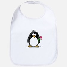 Penguin with a Rose Bib