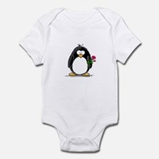 Penguin with a Rose Infant Bodysuit