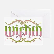 Wicked-ambigram Greeting Card