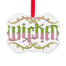 Wicked-ambigram Ornament
