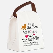 Lion  Lamb Canvas Lunch Bag