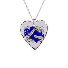 ALS Hope Faith Dual Hearts Necklace