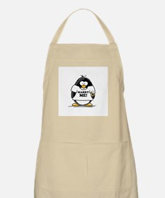 Marry Me Penguin with Ring BBQ Apron