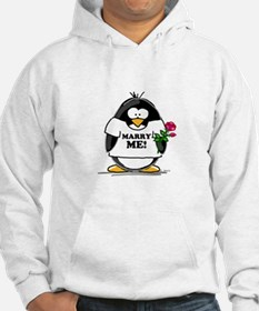 Marry Me Penguin with Rose Hoodie