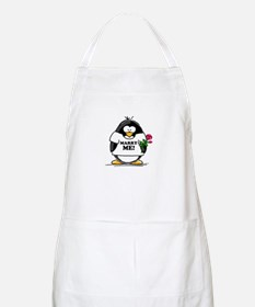 Marry Me Penguin with Rose BBQ Apron