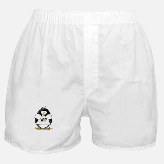 Marry Me Penguin Boxer Shorts