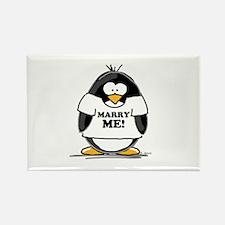 Marry Me Penguin Rectangle Magnet