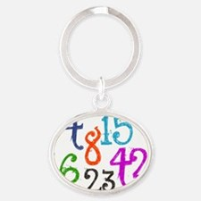 Numbers Calendar Oval Keychain