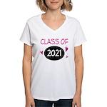 Class of 2021 (butterfly) Women's V-Neck T-Shirt