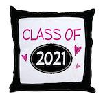 Class of 2021 (butterfly) Throw Pillow