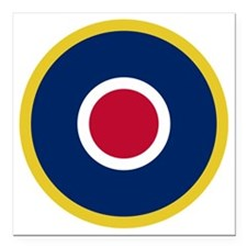 "RAF Roundel - Type C1 Square Car Magnet 3"" x 3"""