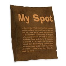 Sheldon's My Spot Quote Burlap Throw Pillow