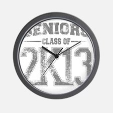 2k13_grey Wall Clock