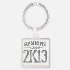 2k13_grey Square Keychain