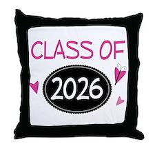 Class of 2026 (butterfly) Throw Pillow