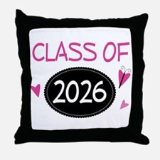 Class of 2026 (butterfly) Throw Pillow