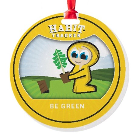 begreen copy Round Ornament