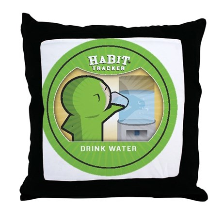 drink water copy Throw Pillow