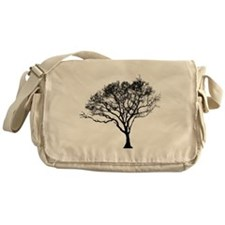 Black Tree Messenger Bag