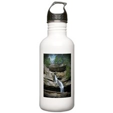 Close up of Falls at Old Man's Cave Water Bottle