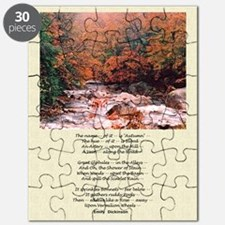Emily Dickinson Autumn Poetry Poster Puzzle