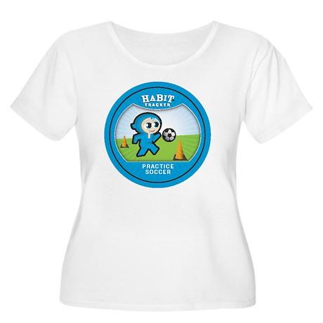 practice socc Women's Plus Size Scoop Neck T-Shirt