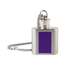 Cool Blue Zebra Designer Flask Necklace