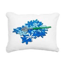 ShovelingSnow110510 Rectangular Canvas Pillow