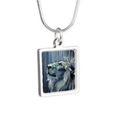 Illumination Silver Square Necklace