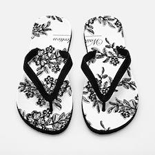 Brocade Flip Flops