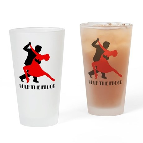 Rule the floor Drinking Glass