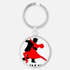 Rule the floor Round Keychain