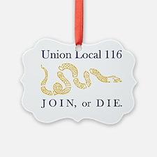 unionlocal116navygold Ornament