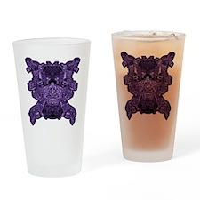 Purple Skull Drinking Glass