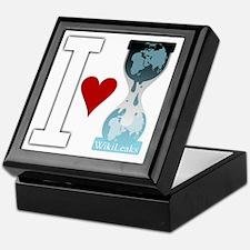 i heart wikileakswhite Keepsake Box