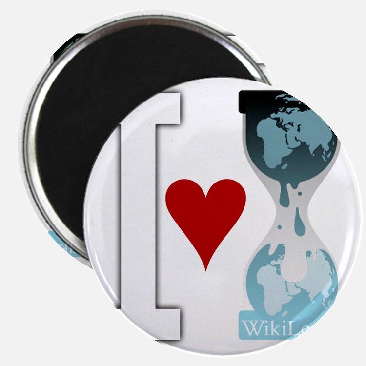 i heart wikileakswhite Magnet