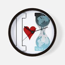 i heart wikileakswhite Wall Clock