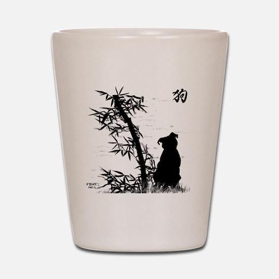 bamboo_clear Shot Glass