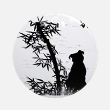 bamboo_clear Round Ornament