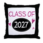 Class of 2027 (butterfly) Throw Pillow