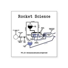 "Rocket science Square Sticker 3"" x 3"""