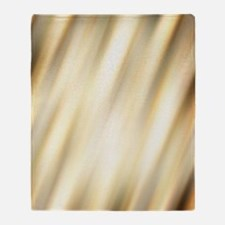 champagne color abstract pattern Throw Blanket