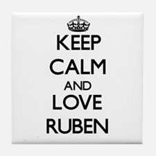 Keep Calm and Love Ruben Tile Coaster