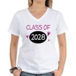 Class of 2028 (butterfly) Women's V-Neck T-Shirt