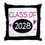 Class of 2028 (butterfly) Throw Pillow